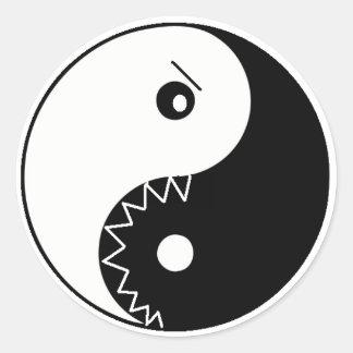 yinYang om nom nom stickers