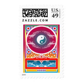 yinyang postage stamps