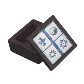 Yinyang Starblast n Fleur de lys Jewelry Box