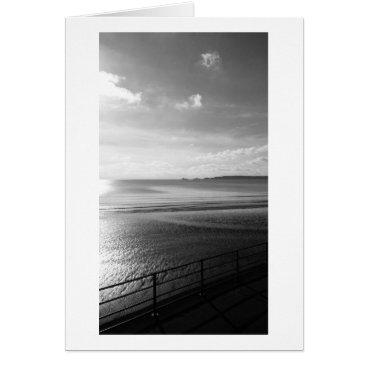 "Beach Themed YinYang Summer B (Black & White)- (5"" x 7"") RBDSto Card"