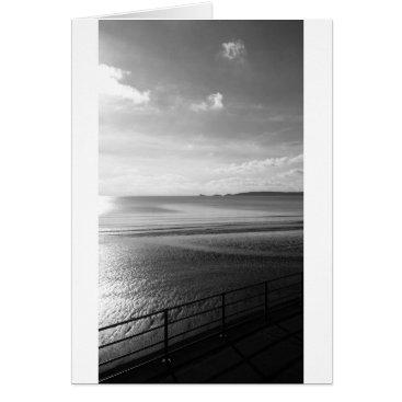 "Beach Themed YinYang Summer (Black & White)- (5"" x 7"") RBDStore Card"