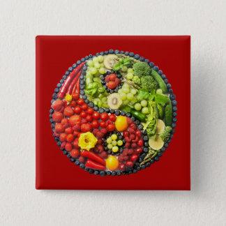 YinYang - Vegan harmony Button