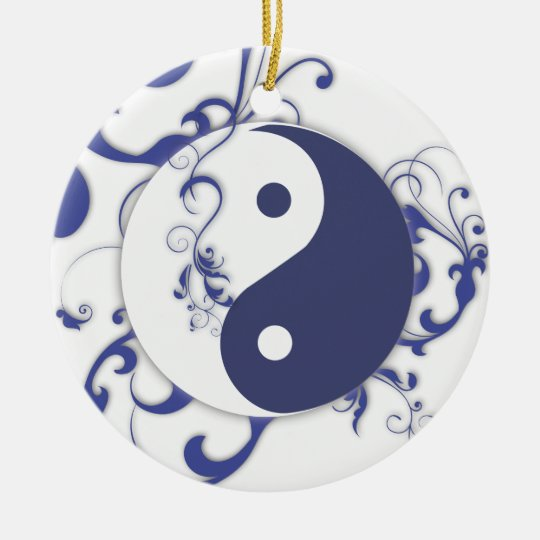Yinyang with scrolls ornament