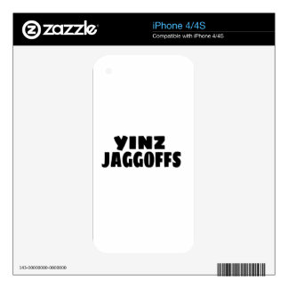 Yinz Jaggoffs Skin For iPhone 4