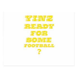 Yinz listo para un cierto fútbol tarjetas postales