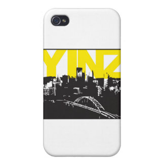Yinz Pittsburgh iPhone 4 Protectores