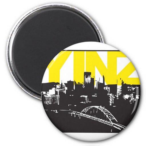 Yinz Pittsburgh Iman De Frigorífico