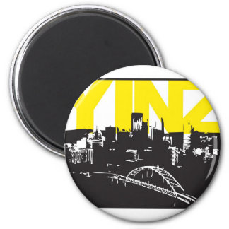 Yinz Pittsburgh Imán Redondo 5 Cm