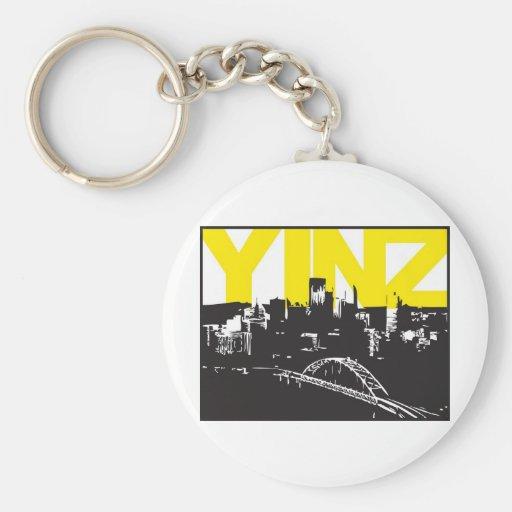 Yinz Pittsburgh Llavero Personalizado