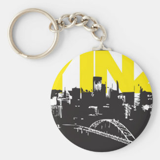 Yinz Pittsburgh Llavero Redondo Tipo Pin