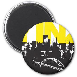 Yinz Pittsburgh Fridge Magnet