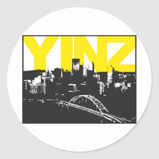 Yinz Pittsburgh Etiqueta Redonda