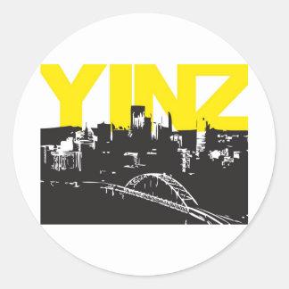 Yinz Pittsburgh Round Sticker