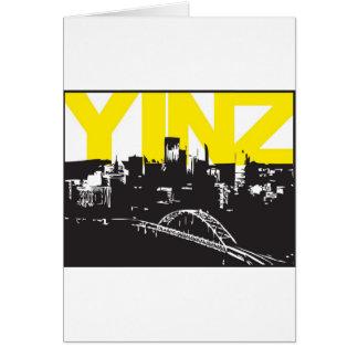 Yinz Pittsburgh Tarjeton