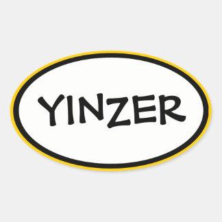 Yinzer Oval Sticker