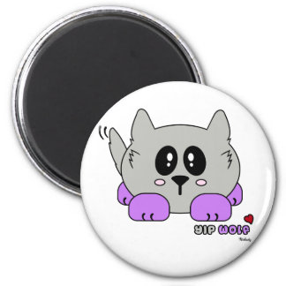 Yip Wolf the Cute Wolf Pudgie Pet by Melody Magnet