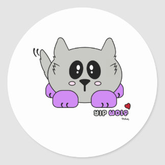Yip Wolf the Cute Wolf Pudgie Pet by Melody Sticker