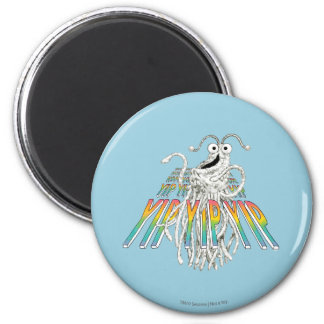 Yip Yips B&W Sketch Drawing 2 Inch Round Magnet