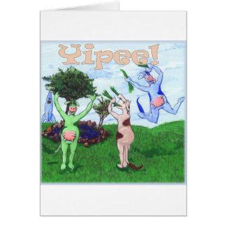 Yipee Cows Card