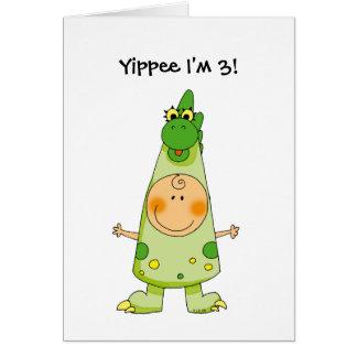Yippee I'm 3! Card