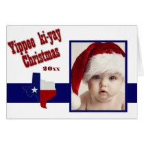 Yippee ki-yay Christmas photo Card