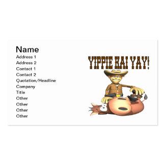Yippie Kai Yay Business Card