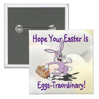 ¡Yippy! ¡Es temporada de caza del huevo de Pascua! Pins
