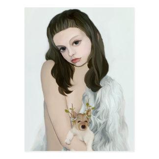 yips doggirl postcard