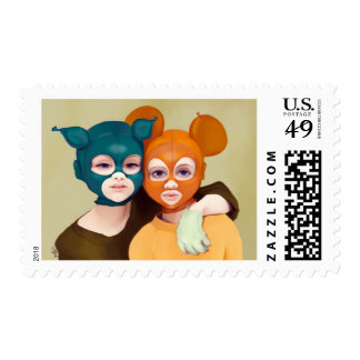 YIp's friends Postage Stamp