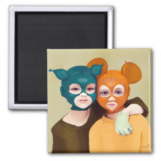 Yip's friends to 2 inch square magnet