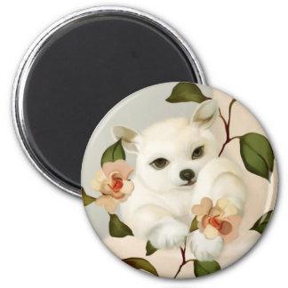 YIp's puppy 2 Inch Round Magnet