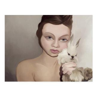yips rabbit postcard