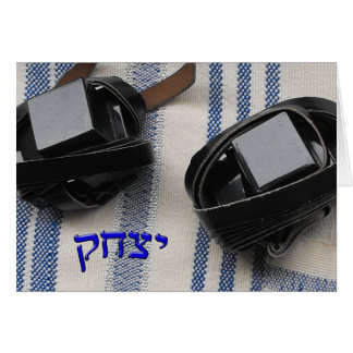 Yitzchak, Isaac - Tallis and Tefillin Card