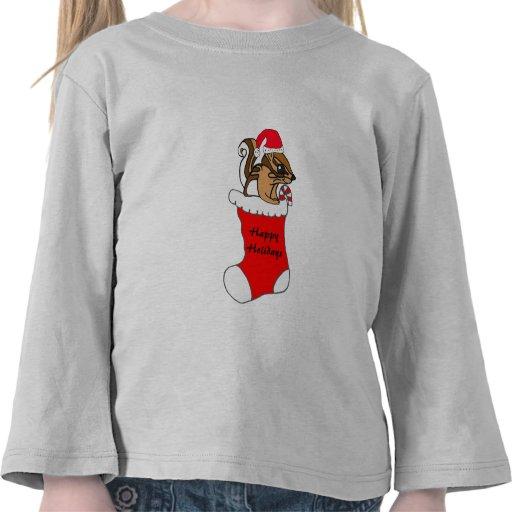 YK- Chipmunk del dibujo animado en una camisa de