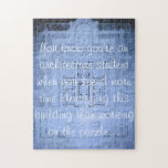 """Ykyaasw Puzzle """"Blueprint"""" Funny Architecture Gift"""
