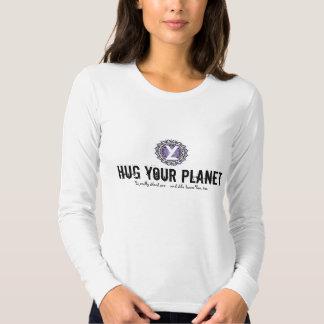 YL - Abrace su planeta - azul Remeras