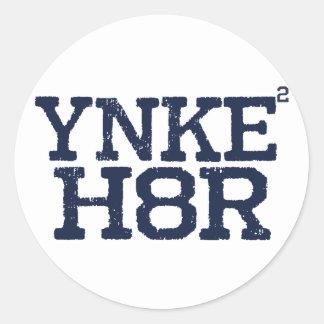 YNKEE H8R Anti-Yankee Round Stickers