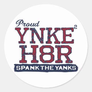 YNKEE H8R Anti-Yankee Classic Round Sticker