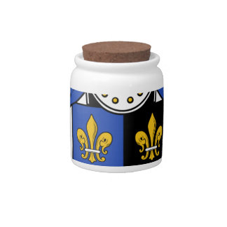 Ynyr Ancient Coat of Arms Family Crest Candy Jars