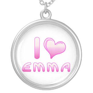 yo ama/el collar de Emma del corazón para los