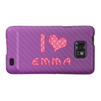 yo ama la caja de la galaxia s de Emma Samsung del Samsung Galaxy SII Carcasas