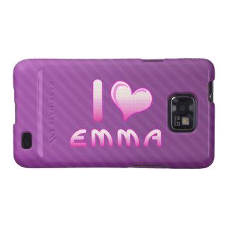 yo ama la caja de la galaxia s de Emma Samsung del Galaxy SII Carcasa