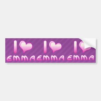 yo ama/la pegatina para el parachoques de Emma del Pegatina Para Auto