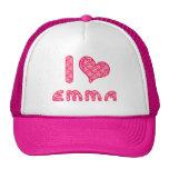 yo aman/la gorra de béisbol de Emma del corazón/el
