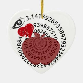 ¡Yo amantes de la matemáticas de la empanada de Ap Ornamento Para Arbol De Navidad