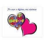 Yo amo a alguien con autismo tarjetas postales