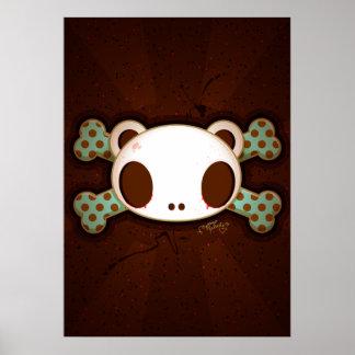 """Yo Amo La Leche """"Panda Skull"""" Poster"""