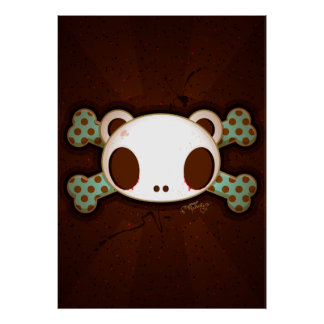 """Yo Amo La Leche """"Panda Skull"""" Print"""