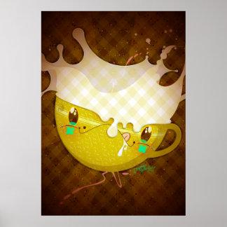 """Yo Amo La Leche """"Yellow Milk Mug"""" Posters"""