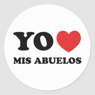 Yo Amo Mis Abuelos Classic Round Sticker